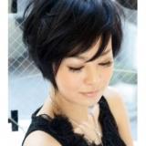 короткие стрижки на темные волосы фото