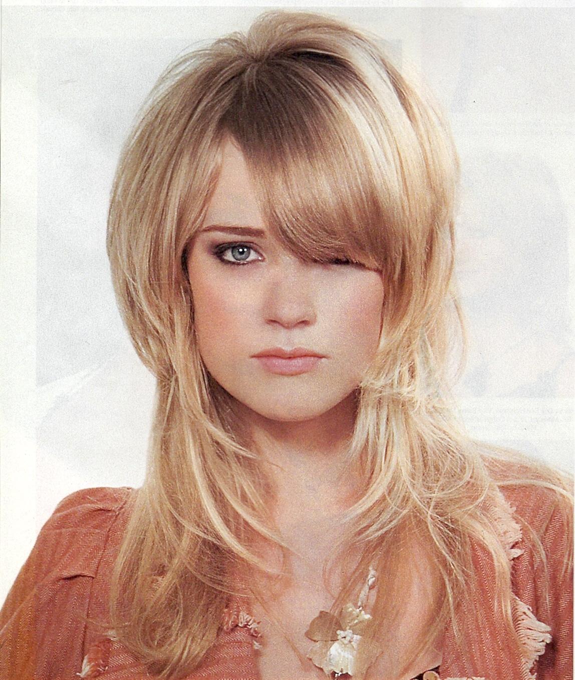 Фото стрижки на длинные волосы с коротким верхом