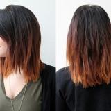 стрижка на длинные волосы с омбре