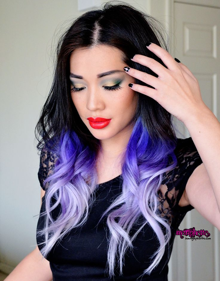 разноцветные волосы выглядят очень гламурно