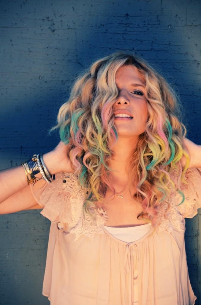 разноцветные волосы блонд