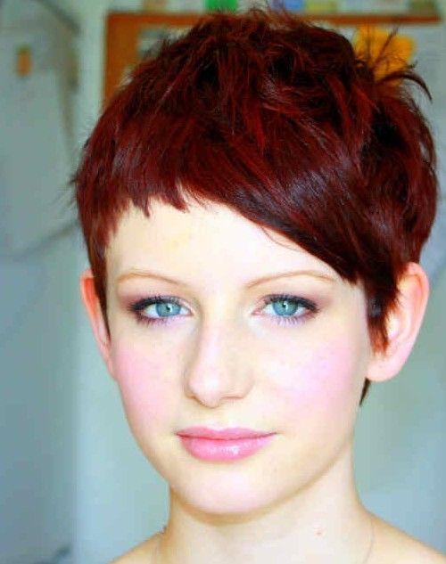 пикси на ярко рыжие волосы