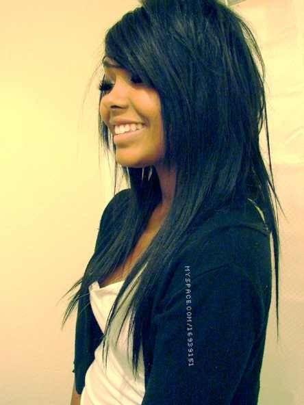 стрижка на лето для длинных волос в стиле эмо фото 1