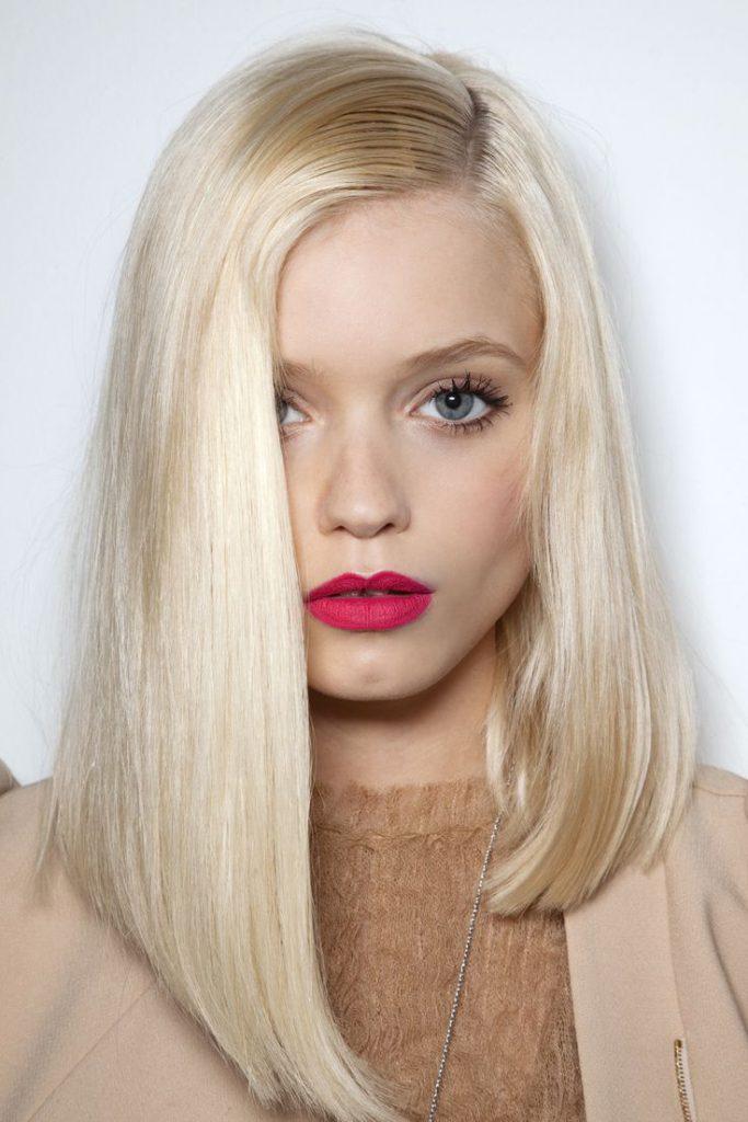 длинные блондинистые волосы боб