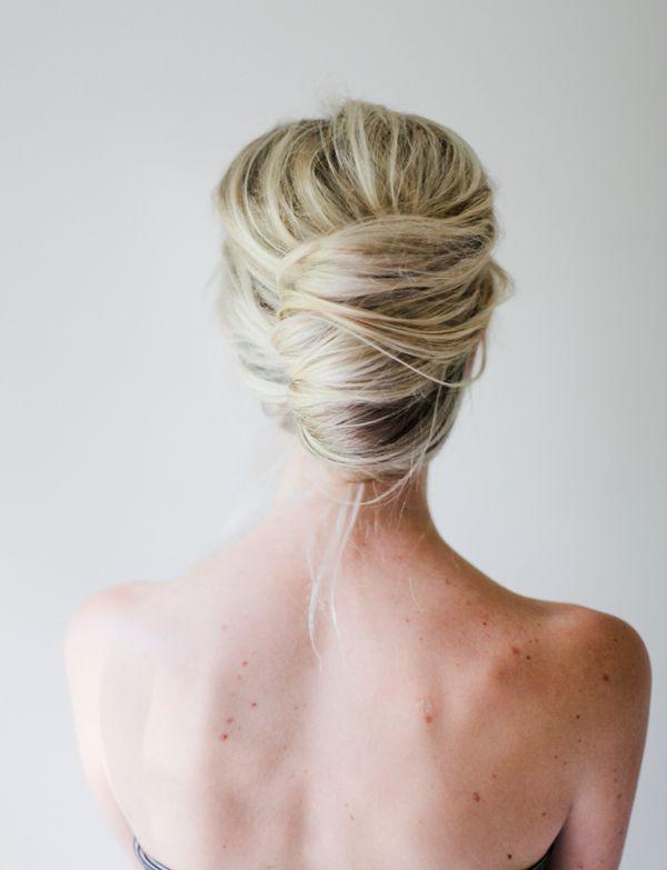 свадебная прическа для длинных волос фото пучок