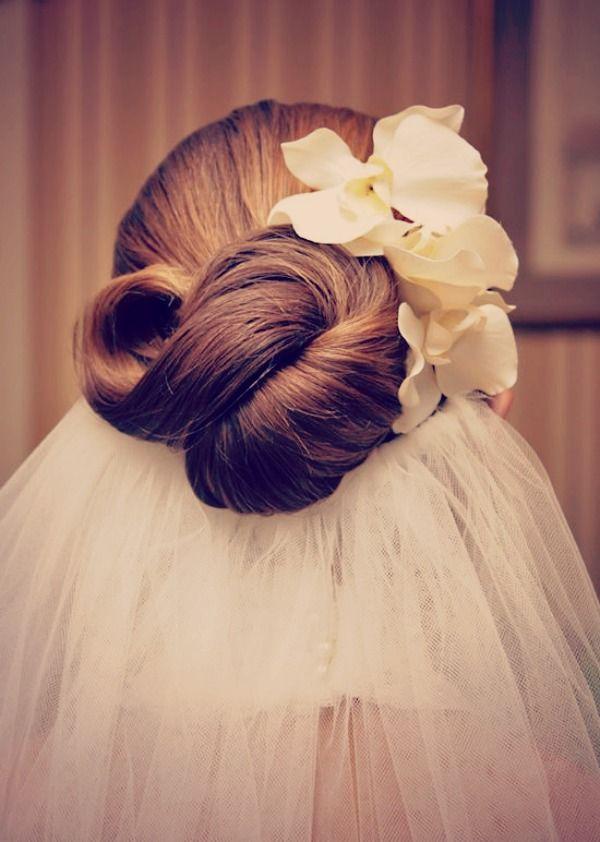 свадебная прическа для длинных волос фото орхидея
