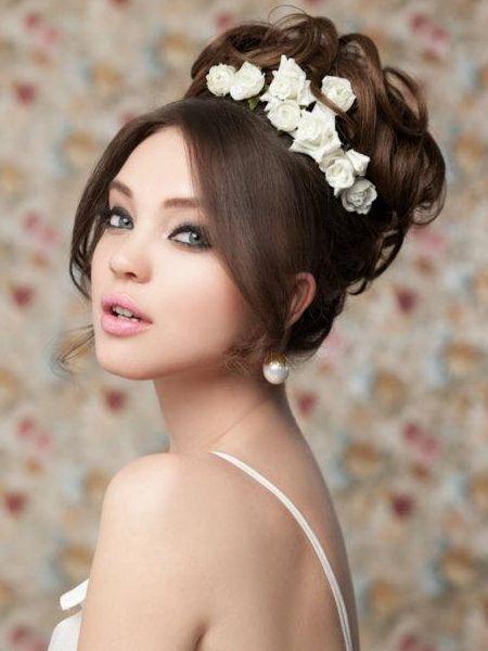 Свадебные прически на длинные волосы: 45 фото