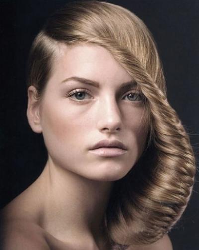 челка-коса