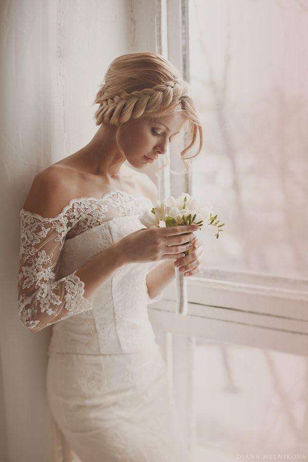 свадебная прическа для длинных волос фото 18