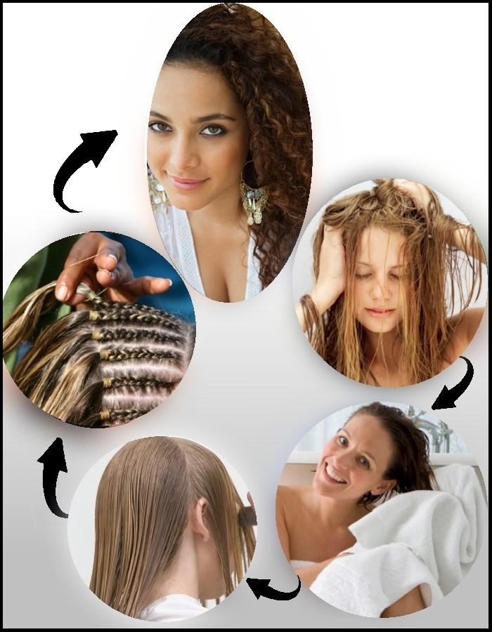 локоны после косы