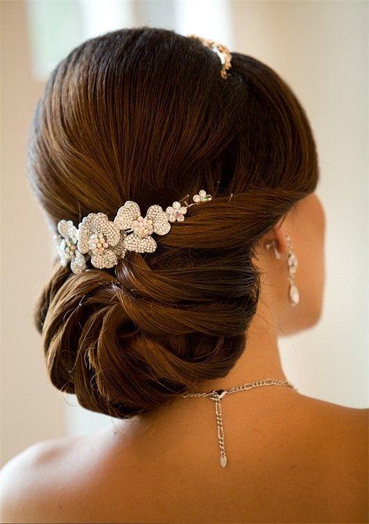 свадебная прическа для длинных волос фото 1