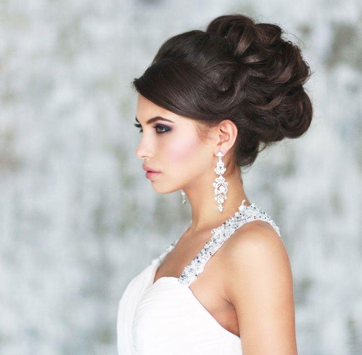свадебная прическа для длинных волос фото 14