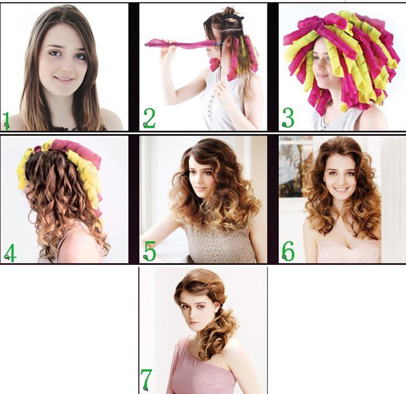 пошагово: как накрутить волосы на бигуди