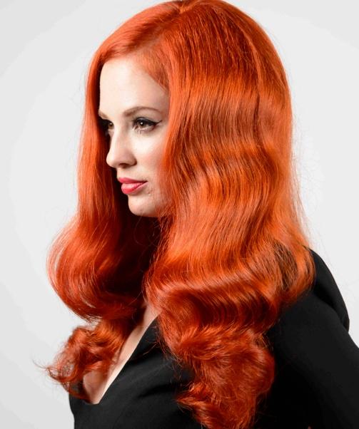 красные волосы волнистые
