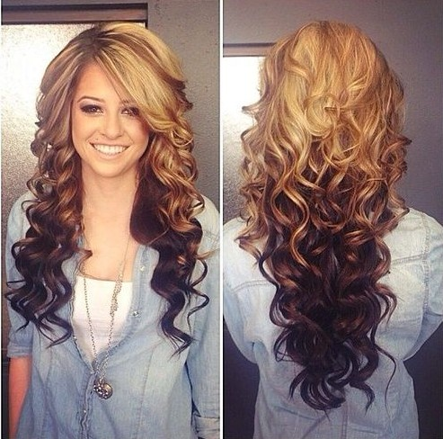 омбре на волосах фото