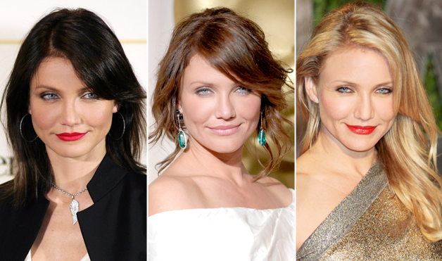 Cameron Diaz with different hair colors