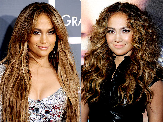 Jennifer Lopez with a different hair color