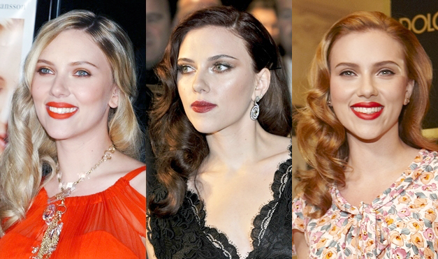 Scarlett Johansson with a different hair color