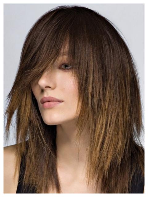 стрижка рваные волосы