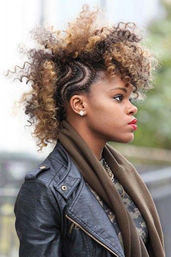 вариант для вьющихся волос