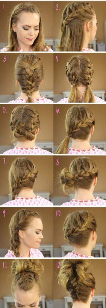 французская коса прическа за 5 минут фото 10