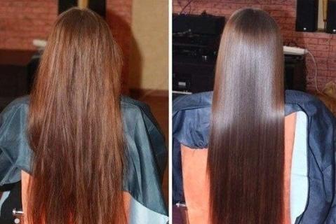 до и после использования кокосового масла
