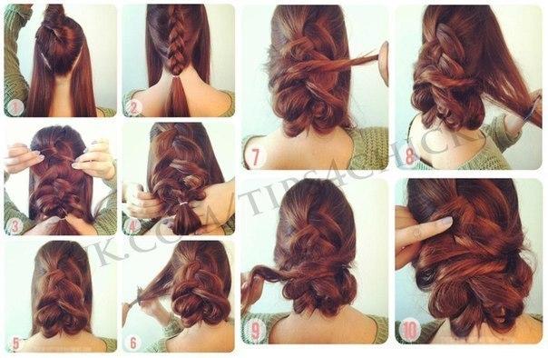 Прически косы инструкция фото