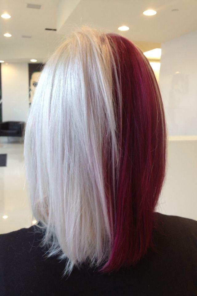 Прическа Круэллы split hair