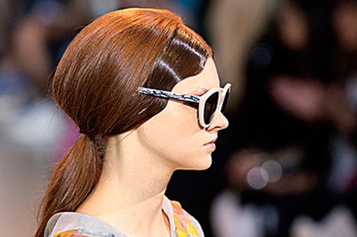 хвост, волосы, осень 2015
