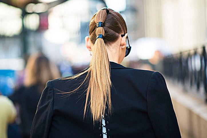 Красивые хвосты на средние волосы - 4