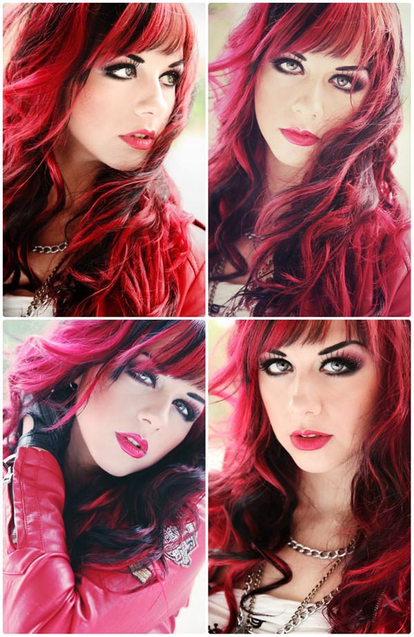 Волосы двух цветов для ярких девушек