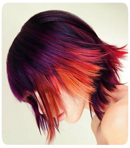 Покраска волос в два цвета: короткие волосы