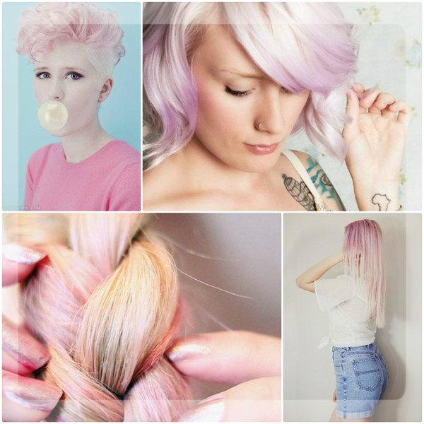 Покраска волос в два цвета: оттенки розового