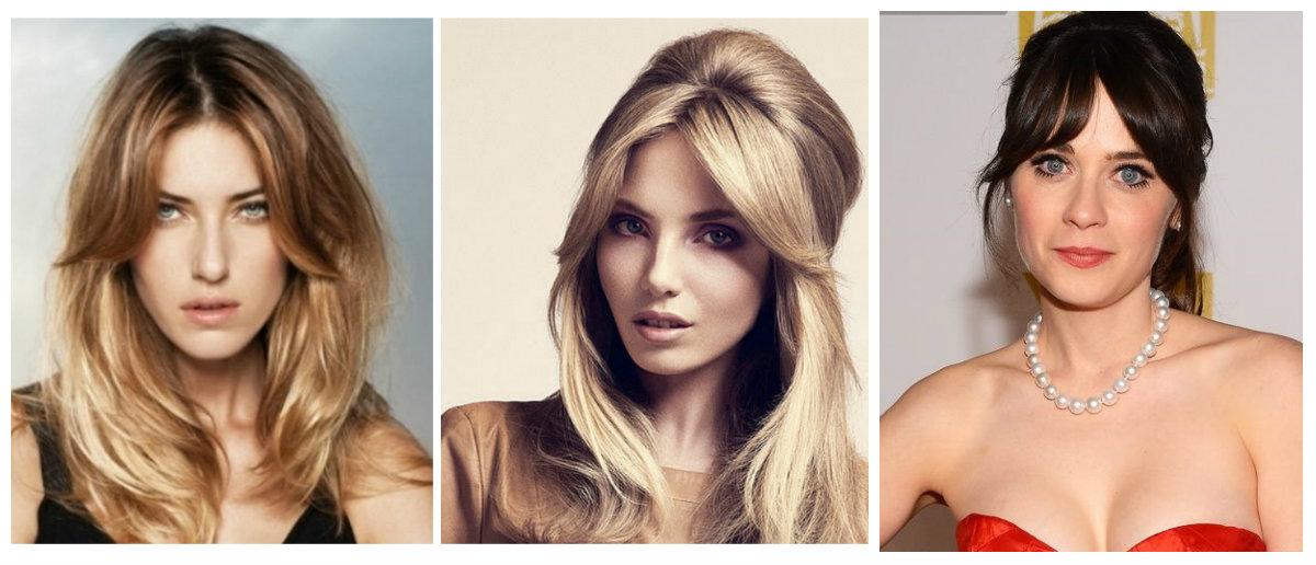Прически на средний волос на пробор посередине