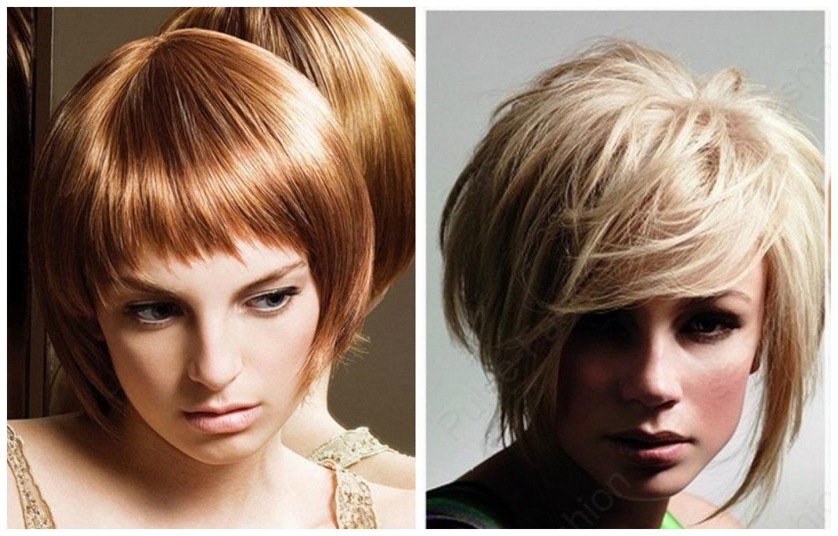 Стрижки с челкой для коротких волос: фото 1