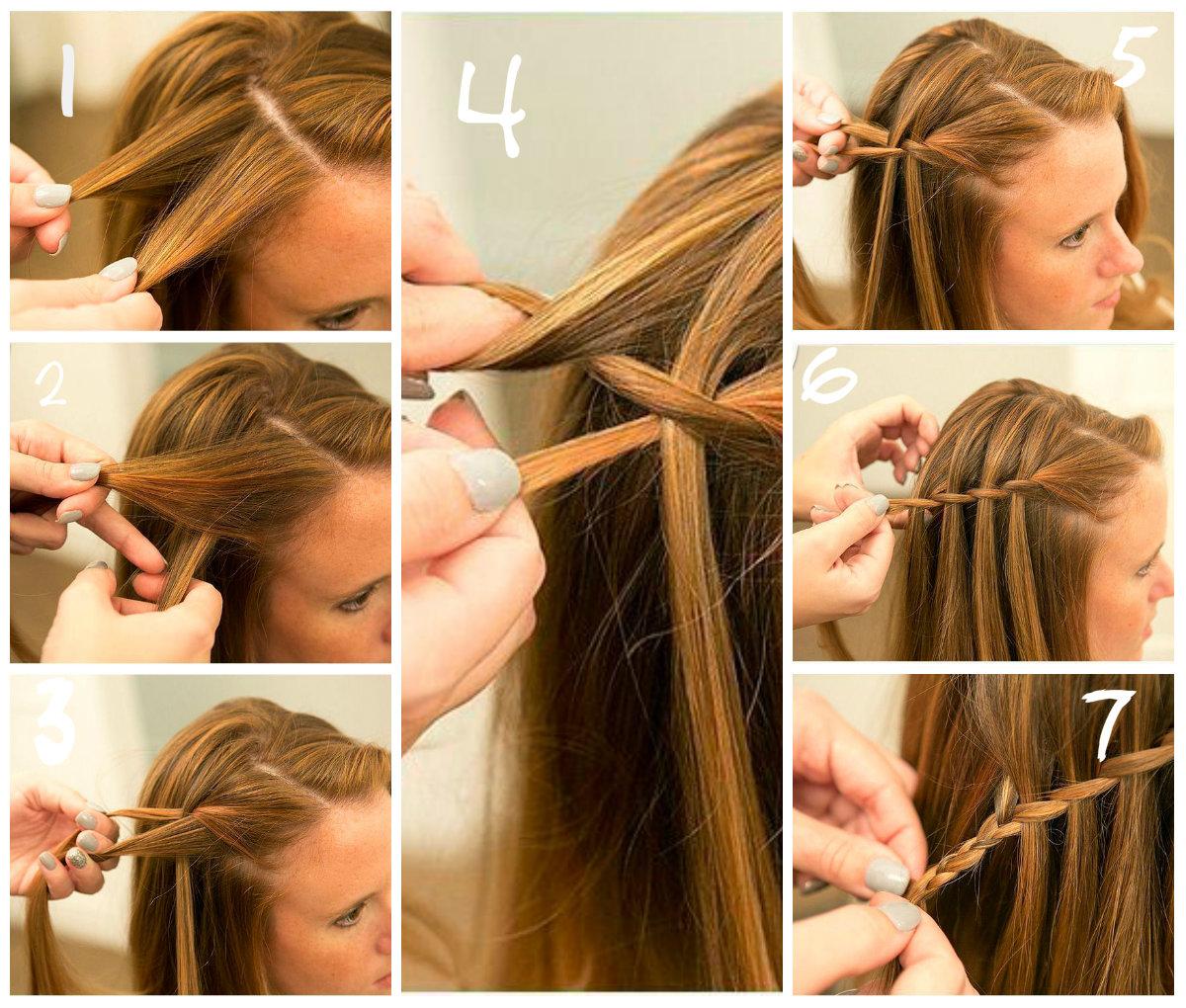 прически на длинные волосы: водопад