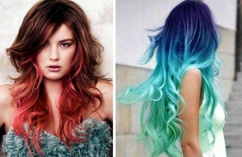 Покраска волос в два цвета: фото 30