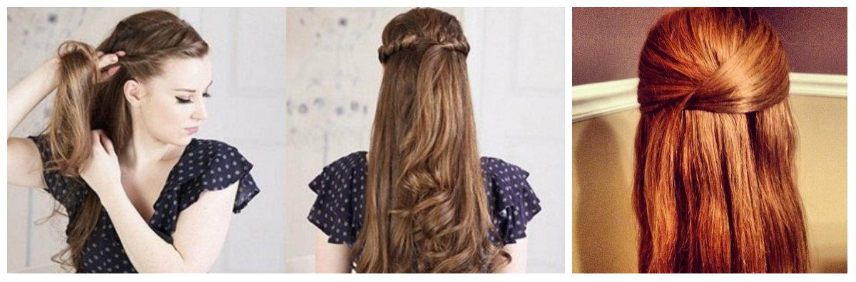 прическа на кудрявые волосы за 5 минут простая: