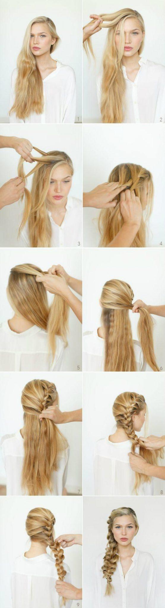 Легкая прическа для коротких волос дома