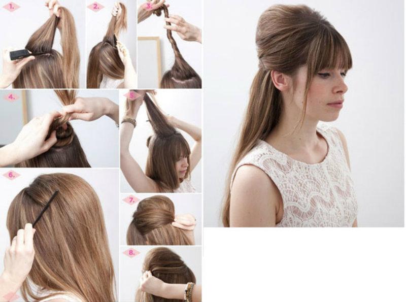 Прически на накрученные волосы своими руками на средние волосы