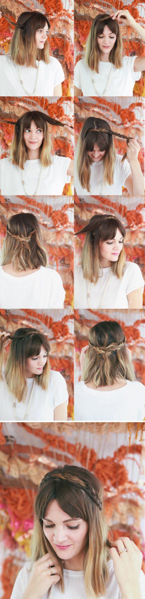 Косички для коротких волос: мастер-класс