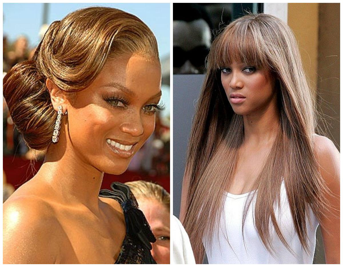 Распущенные волосы или сложная прическа: Тайра Бэнкс