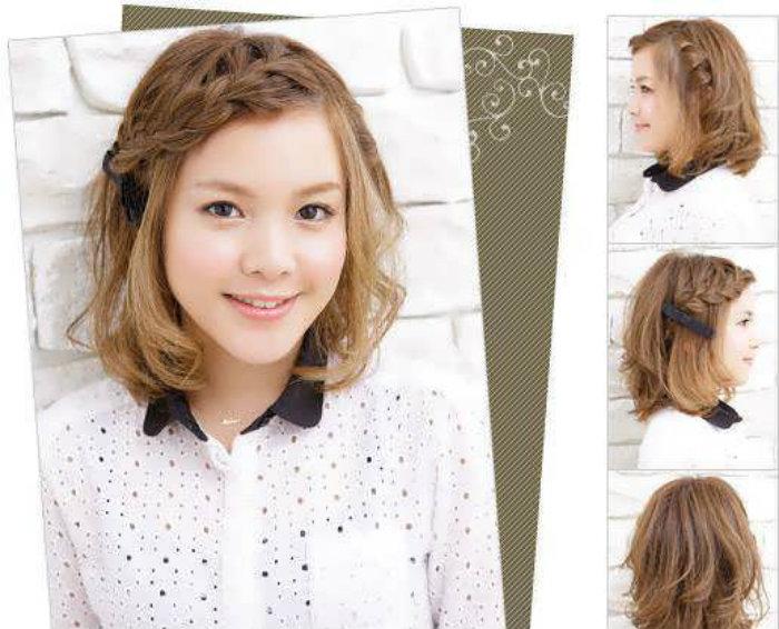 Идеи косичек для коротких волос с челкой