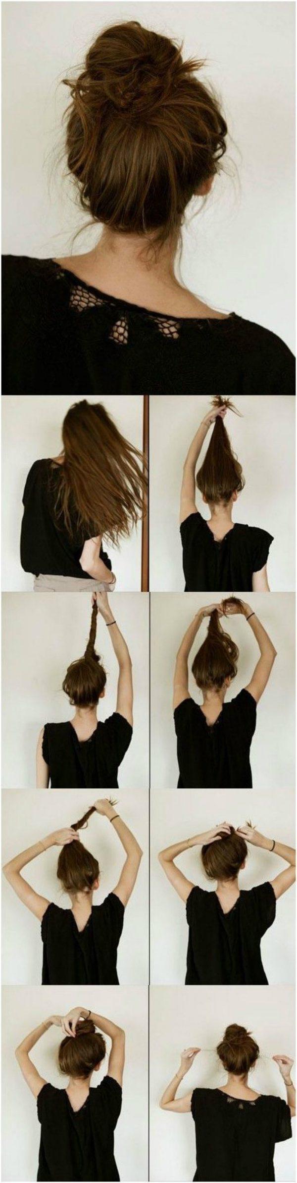 7 вариантов как сделать красивый пучок из волос для волос 86