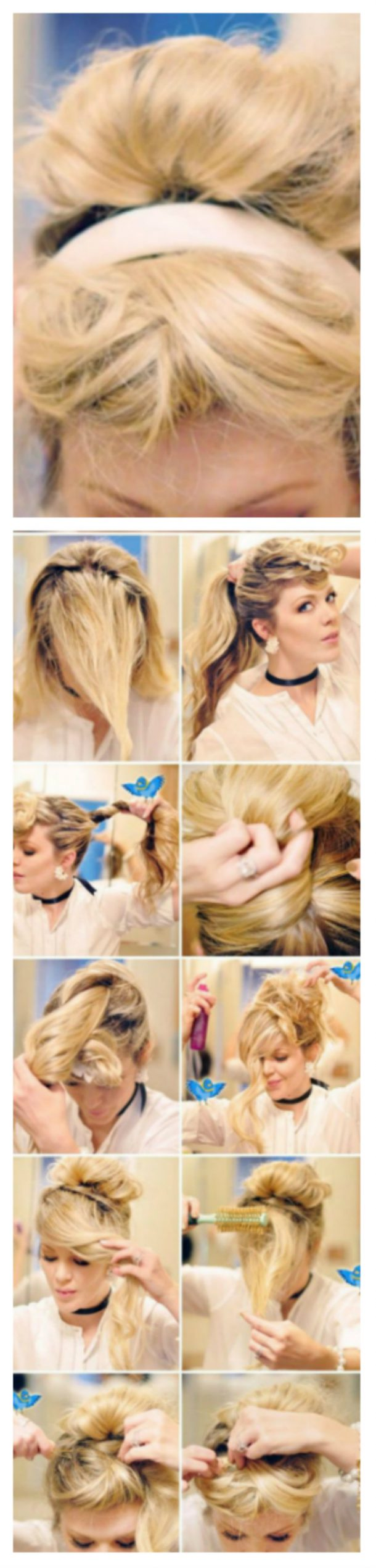 7 вариантов как сделать красивый пучок из волос для волос 78