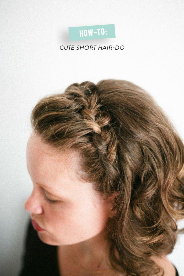 Косички на короткие волосы: фото 13