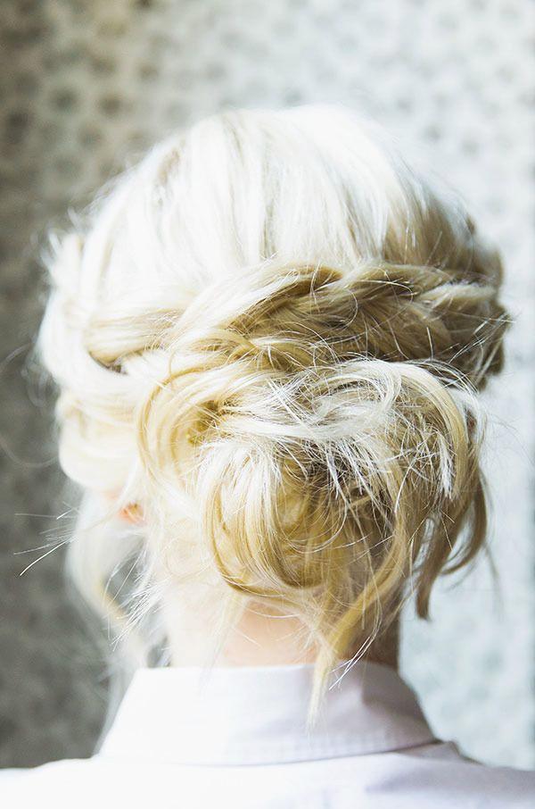 Косички на короткие волосы: фото 17
