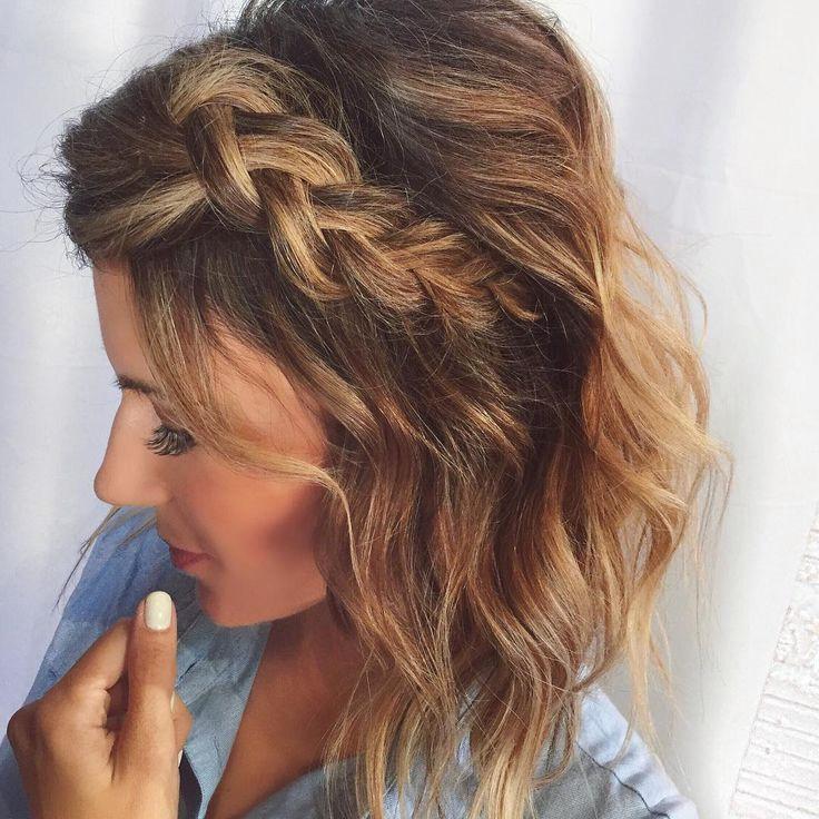 Косички на короткие волосы: фото 14