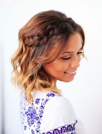 Косички на короткие волосы: фото 15