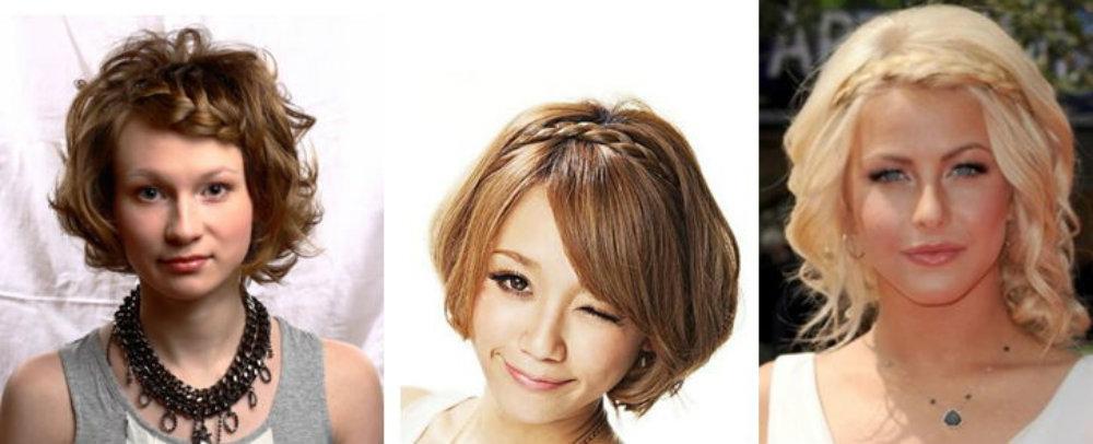 Косички на короткие волосы: фото 22